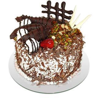 4 ile 6 kisilik çikolatali yas pasta  Sivas çiçek online çiçek siparişi