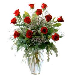 Vazo içerisinde 11 kirmizi gül  Sivas internetten çiçek satışı