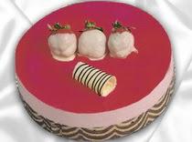 pasta siparisi 4 ile 6 kisilik yas pasta çilekli yaspasta  Sivas anneler günü çiçek yolla