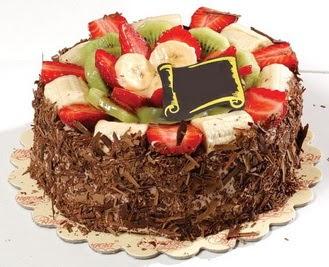 pastaci firmasindan 4 ile 6 kisilik çikolata meyvali yaspasta  Sivas ucuz çiçek gönder