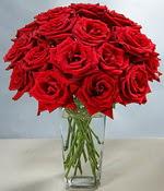 Sivas ucuz çiçek gönder  Sevdiklerinize özel ürün 12 adet cam içerisinde kirmizi gül  Sivas çiçek satışı