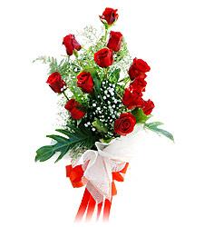 11 adet kirmizi güllerden görsel sölen buket  Sivas internetten çiçek satışı