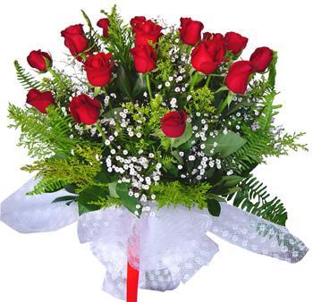 11 adet gösterisli kirmizi gül buketi  Sivas hediye çiçek yolla