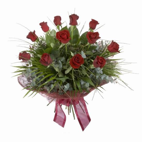 Etkileyici buket 11 adet kirmizi gül buketi  Sivas hediye çiçek yolla