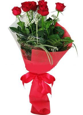 7 adet kirmizi gül buketi  Sivas güvenli kaliteli hızlı çiçek