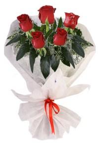 5 adet kirmizi gül buketi  Sivas çiçekçi mağazası