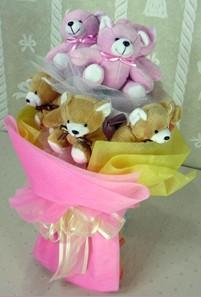 8 adet ayiciktan buket  Sivas internetten çiçek siparişi