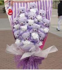11 adet pelus ayicik buketi  Sivas online çiçekçi , çiçek siparişi