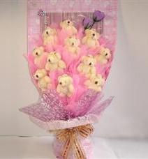 11 adet pelus ayicik buketi  Sivas çiçek yolla , çiçek gönder , çiçekçi