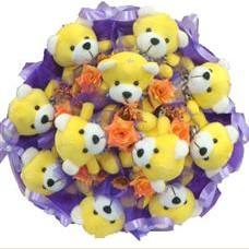 11 adet pelus ayicik buketi  Sivas hediye sevgilime hediye çiçek