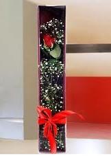 kutu içinde tek kirmizi gül  Sivas 14 şubat sevgililer günü çiçek