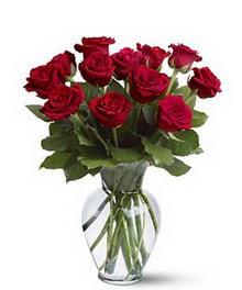 Sivas online çiçekçi , çiçek siparişi  cam yada mika vazoda 10 kirmizi gül
