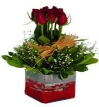 Sivas İnternetten çiçek siparişi  7 adet mika yada cam vazoda gül tanzimi