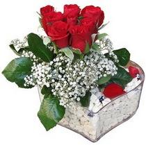 Sivas çiçek servisi , çiçekçi adresleri  kalp mika içerisinde 7 adet kirmizi gül