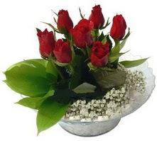 Sivas hediye çiçek yolla  cam yada mika içerisinde 5 adet kirmizi gül