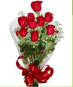 Sivas online çiçek gönderme sipariş  10 adet kırmızı gülden görsel buket