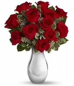 Sivas internetten çiçek satışı   vazo içerisinde 11 adet kırmızı gül tanzimi