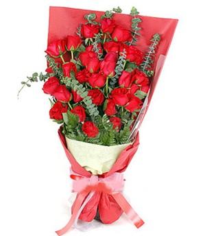 Sivas İnternetten çiçek siparişi  37 adet kırmızı güllerden buket