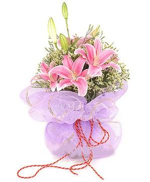 3 dal kazablanka görsel buketi  Sivas hediye çiçek yolla