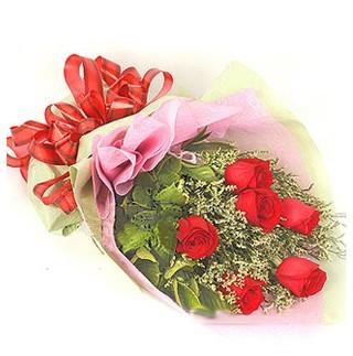 Sivas çiçek gönderme  6 adet kırmızı gülden buket