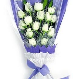 Sivas çiçek , çiçekçi , çiçekçilik  11 adet beyaz gül buket modeli