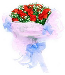 Sivas ucuz çiçek gönder  11 adet kırmızı güllerden buket modeli