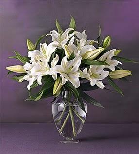 Sivas yurtiçi ve yurtdışı çiçek siparişi  4 dal cazablanca vazo çiçeği