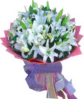 7 dal cazablanca görsel buketi  Sivas çiçek , çiçekçi , çiçekçilik