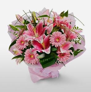 1 dal kazablanka ve kır çiçek görsel buketi  Sivas hediye çiçek yolla