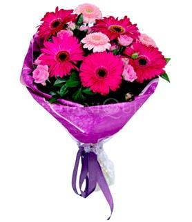 Sivas ucuz çiçek gönder  karışık gerbera çiçeği buketi