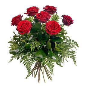 Sivas çiçekçiler  7 adet kırmızı gülden buket