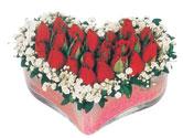 Sivas çiçek gönderme sitemiz güvenlidir  mika kalpte kirmizi güller 9