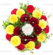 Sivas çiçek , çiçekçi , çiçekçilik  13 adet mevsim çiçeğinden görsel buket