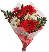 Mevsim çiçeklerinden görsel buket  Sivas çiçekçi mağazası