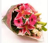 1 dal kazablanka ve mevsim çiçekleri  Sivas çiçek siparişi sitesi