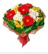 1 demet karışık buket  Sivas uluslararası çiçek gönderme
