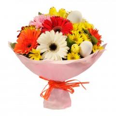 Karışık mevsim buketi Mevsimsel çiçek  Sivas çiçek siparişi sitesi