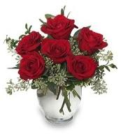 Vazo içerisinde 5 adet kırmızı gül  Sivas çiçek , çiçekçi , çiçekçilik