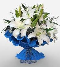 4 dal kazablanka çiçeğinden buket  Sivas internetten çiçek siparişi