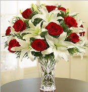 12 adet kırmızı gül 2 dal kazablanka vazosu  Sivas çiçek yolla