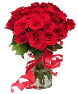 21 adet vazo içerisinde kırmızı gül  Sivas çiçek yolla