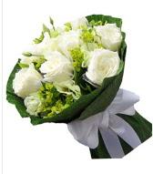 9 adet beyaz gül buketi  Sivas ucuz çiçek gönder