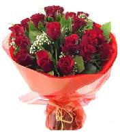 12 adet görsel bir buket tanzimi  Sivas internetten çiçek satışı