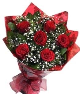 6 adet kırmızı gülden buket  Sivas çiçek mağazası , çiçekçi adresleri