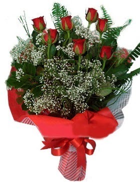 7 kırmızı gül buketi  Sivas anneler günü çiçek yolla