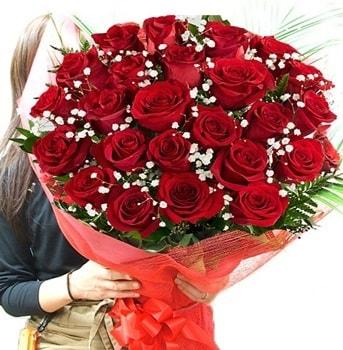 Kız isteme çiçeği buketi 33 adet kırmızı gül  Sivas online çiçekçi , çiçek siparişi