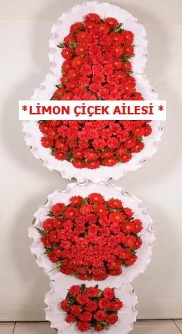 3 katlı kırmızı düğün açılış çiçeği  Sivas İnternetten çiçek siparişi