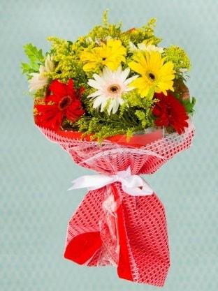 Karışık Gelbera Buketi  Sivas ucuz çiçek gönder