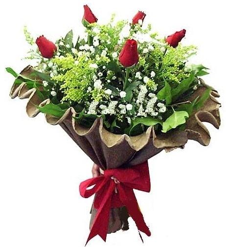 5 adet gülden buket  Sivas online çiçekçi , çiçek siparişi