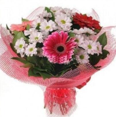 Gerbera ve kır çiçekleri buketi  Sivas çiçek siparişi sitesi